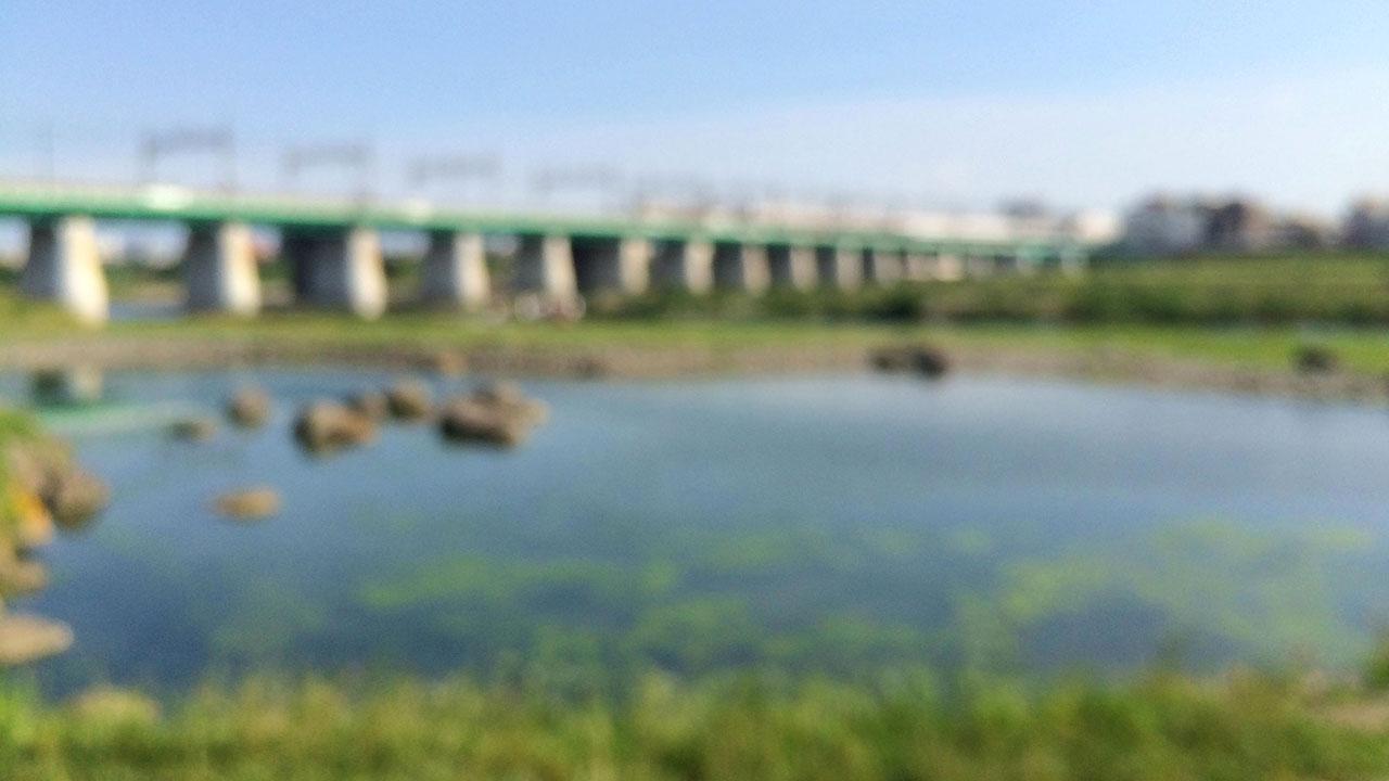 二子玉川河川敷