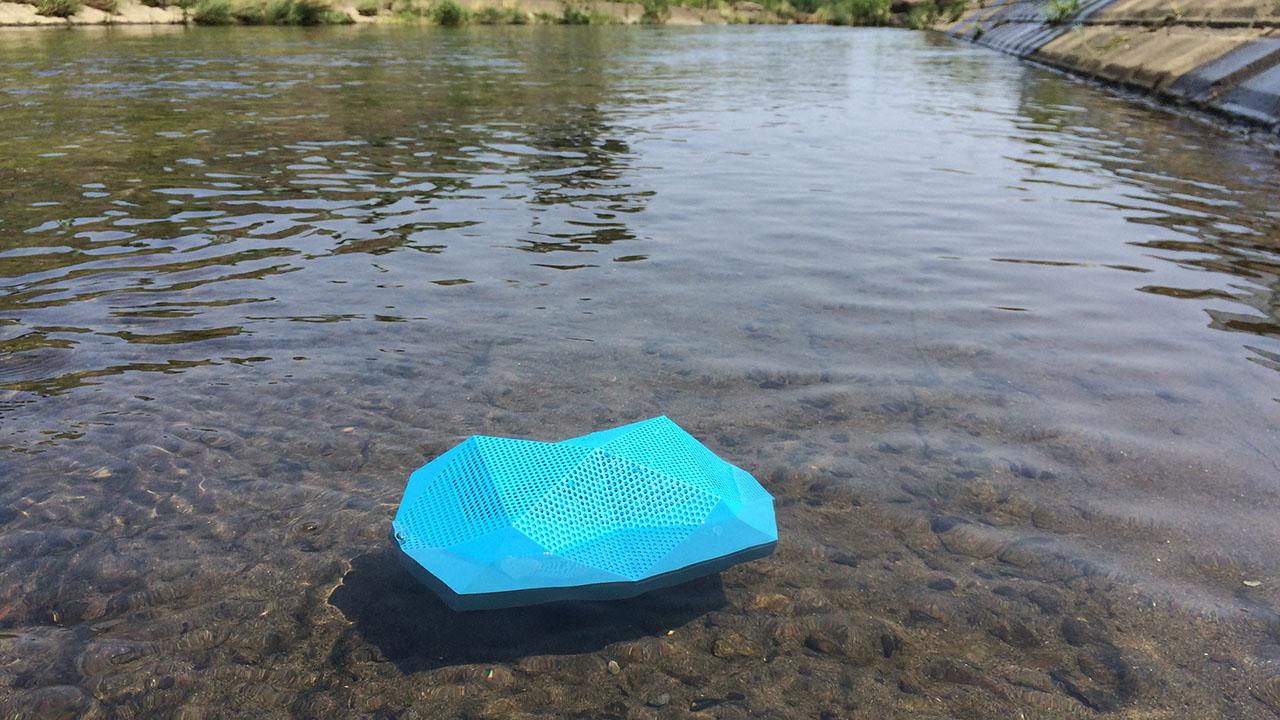 川に流して音楽も流す!
