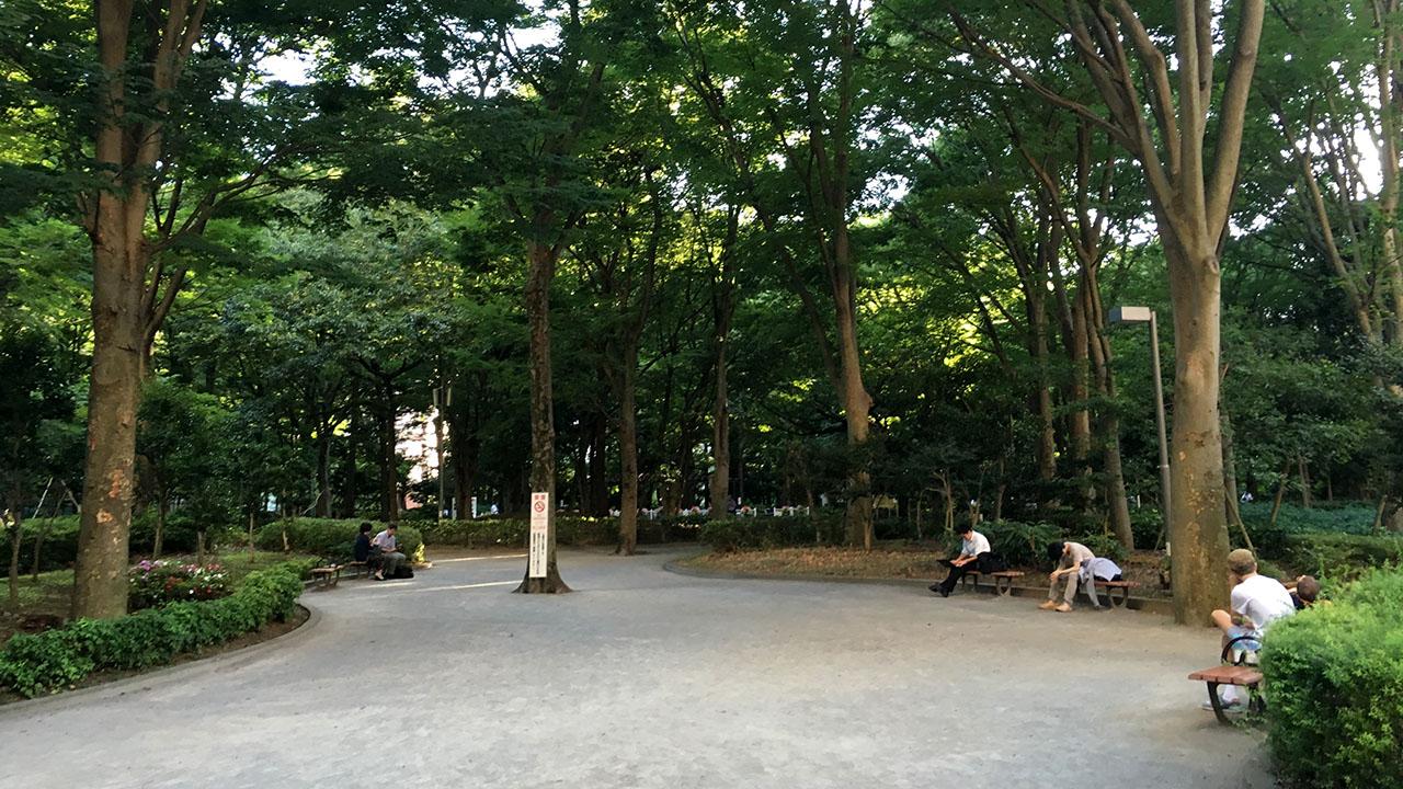 新宿中央公園入った