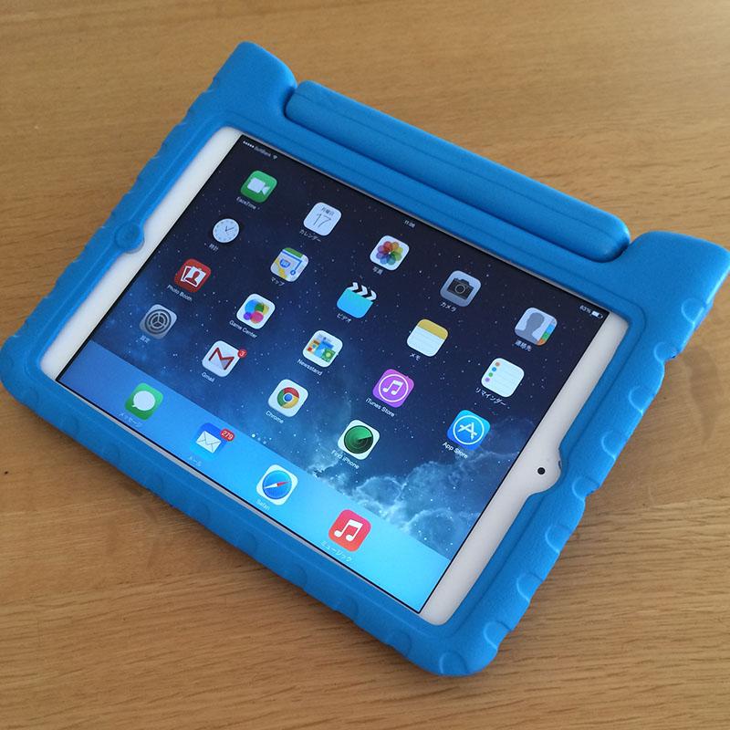 NORA IT向け?アイテム [サンワダイレクト iPad mini ケース 子ども用 スタンド機能付 衝撃吸収 ブルー]を購入してみた