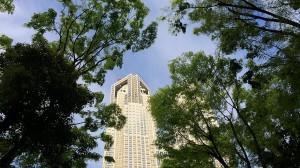 新宿中央公園から空をのぞむ