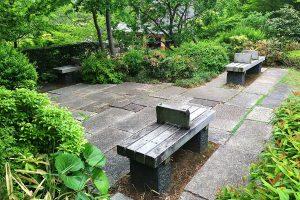 檜町公園のベンチ